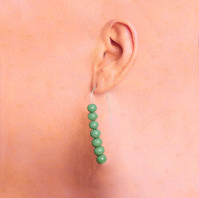 Centouno 60's Green Dangle Earrings Earrings by Cosima Montavoci - Sunset Yogurt