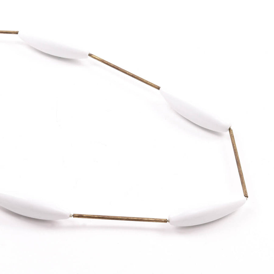 Glass'n'Brass White Necklace