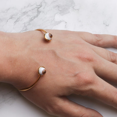 Eyes Golden Cuff Bracelet