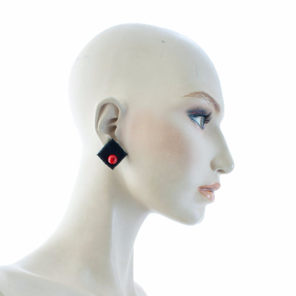 Petra Square Earrings Earrings by Cosima Montavoci - Co Glass Jewellery