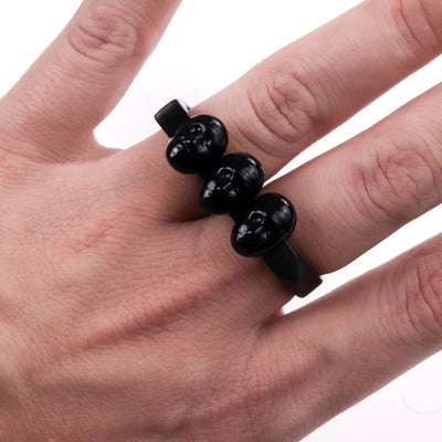 Alex Black & Gold Two Fingers Ring
