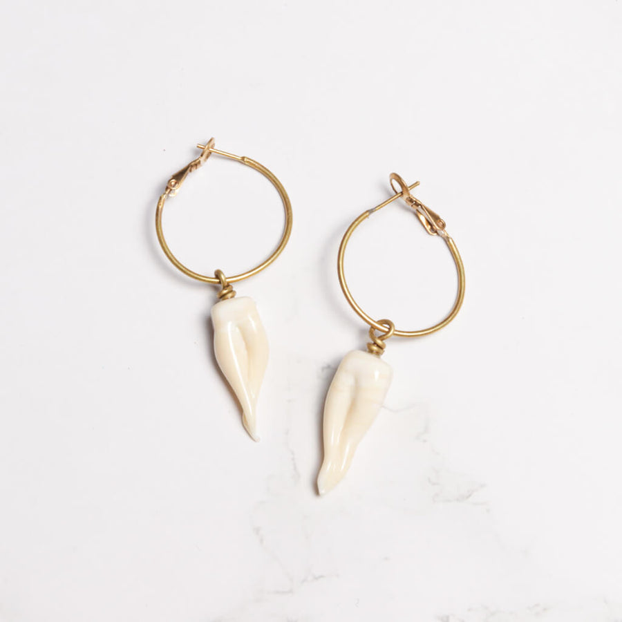 Teeth Hoop Earrings
