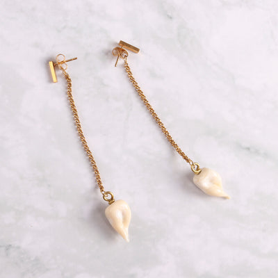 Teeth Pendant Earrings