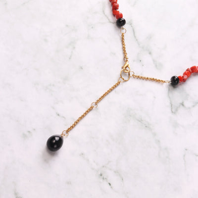 Tiny Leg Coral Necklace