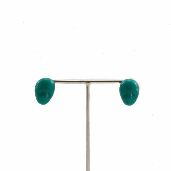 Alex Dark Green Earrings by Cosima Montavoci - Co Glass Jewellery