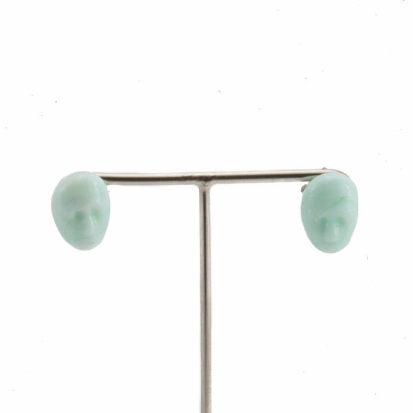 Alex Marble Green Earrings by Cosima Montavoci - Co Glass Jewellery