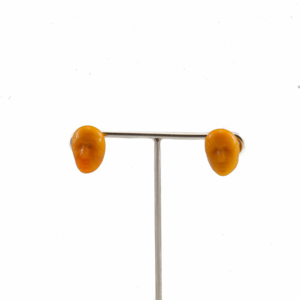 Alex Orange Earrings by Cosima Montavoci - Co Glass Jewellery