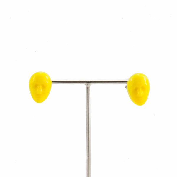 Alex Yellow Earrings by Cosima Montavoci - Co Glass Jewellery