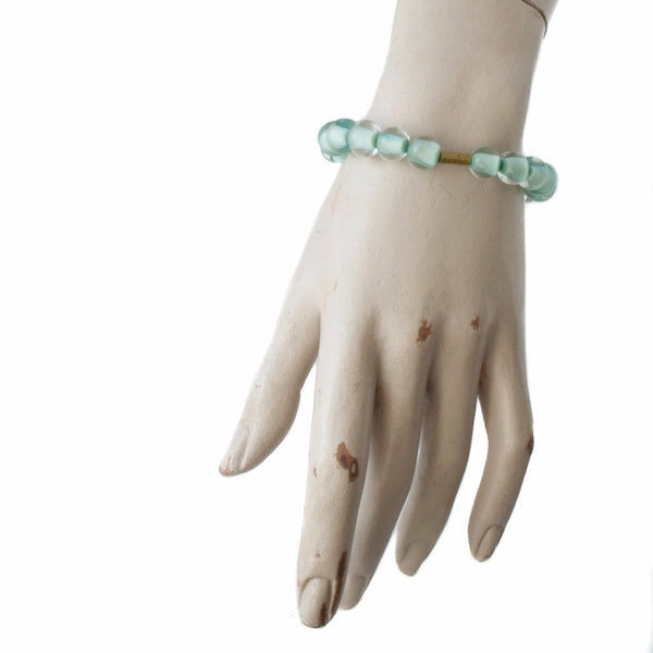 Biglia Bangle Copper Green Bracelets by Cosima Montavoci - Co Glass Jewellery