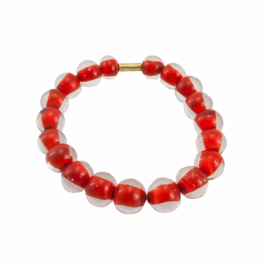 Biglia Bangle Red Bracelets by Cosima Montavoci - Co Glass Jewellery