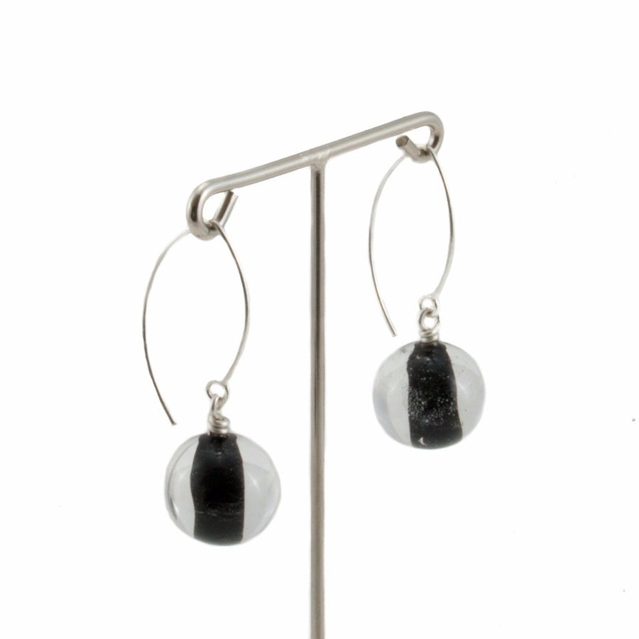 Biglia Black Long Earrings