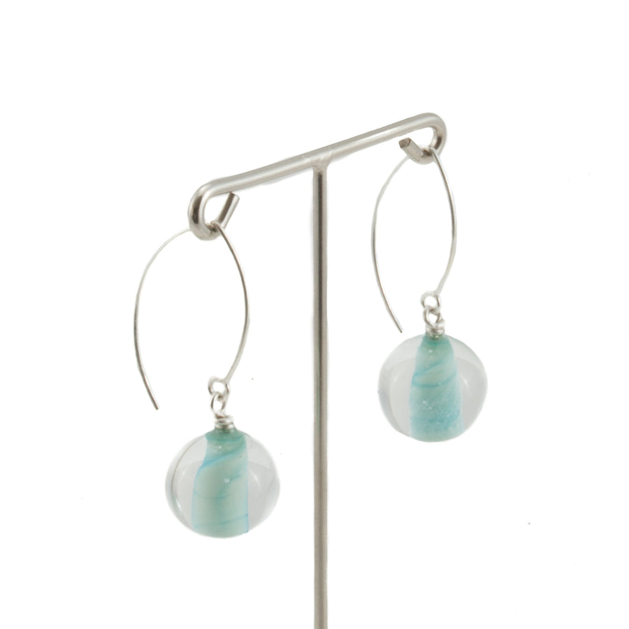 Biglia Long Copper Green Earrings by Cosima Montavoci - Co Glass Jewellery