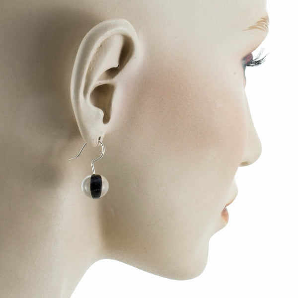 Biglia Black Earrings by Cosima Montavoci - Co Glass Jewellery