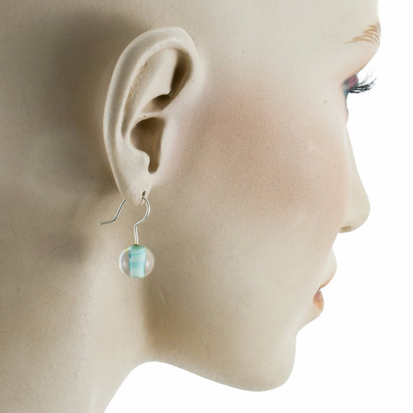 Biglia Copper Green Earrings by Cosima Montavoci - Co Glass Jewellery