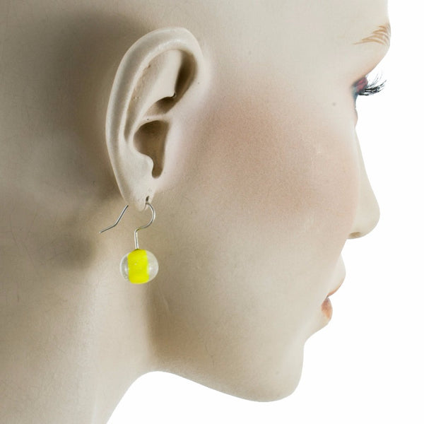 Biglia Yellow Earrings by Cosima Montavoci - Co Glass Jewellery