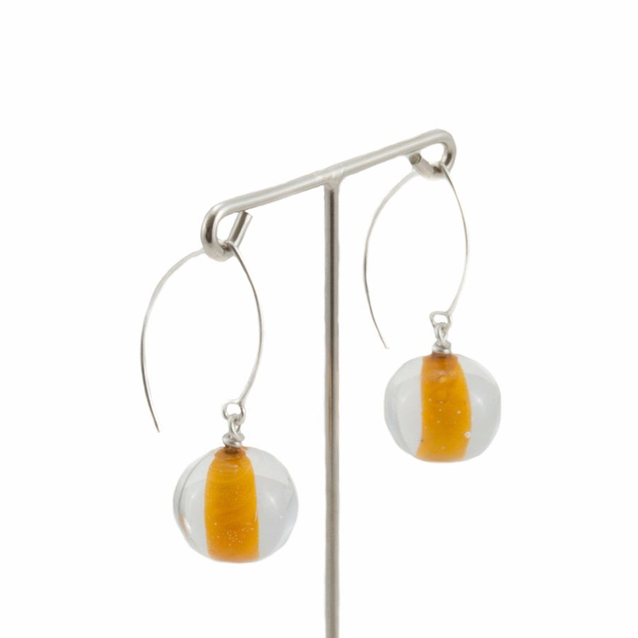 Biglia Long Orange Earrings by Cosima Montavoci - Co Glass Jewellery