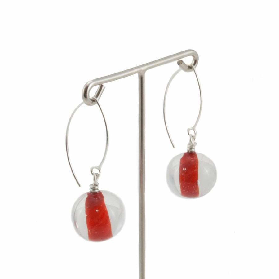 Biglia Red Long Earrings Earrings by Cosima Montavoci - Co Glass Jewellery
