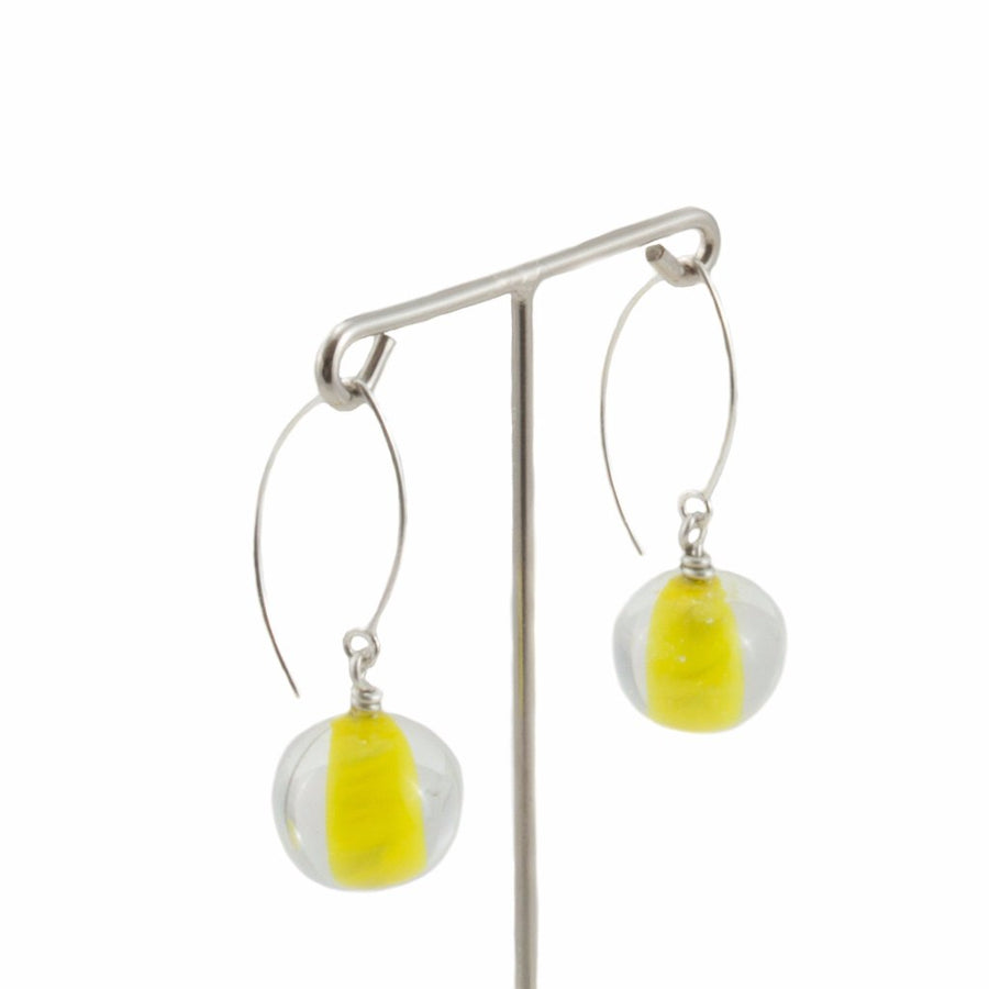 Biglia Yellow Long Earrings Earrings by Cosima Montavoci - Co Glass Jewellery