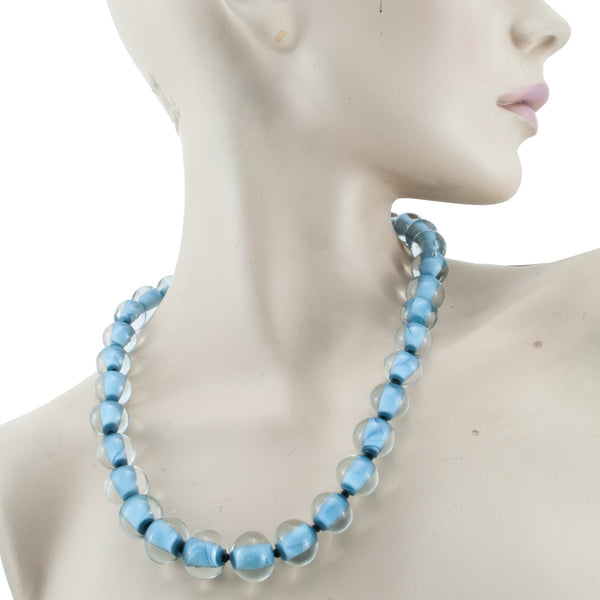 Biglia Metal Navy Necklace by Cosima Montavoci - Co Glass Jewellery