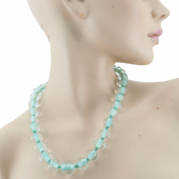 Biglia Copper Green Necklace by Cosima Montavoci - Co Glass Jewellery