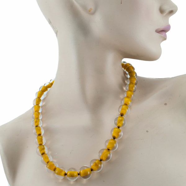 Biglia Orange Necklace by Cosima Montavoci - Co Glass Jewellery