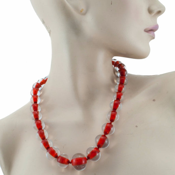 Biglia Red Necklace by Cosima Montavoci - Co Glass Jewellery