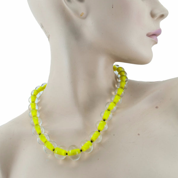 Biglia Yellow Necklace by Cosima Montavoci - Co Glass Jewellery