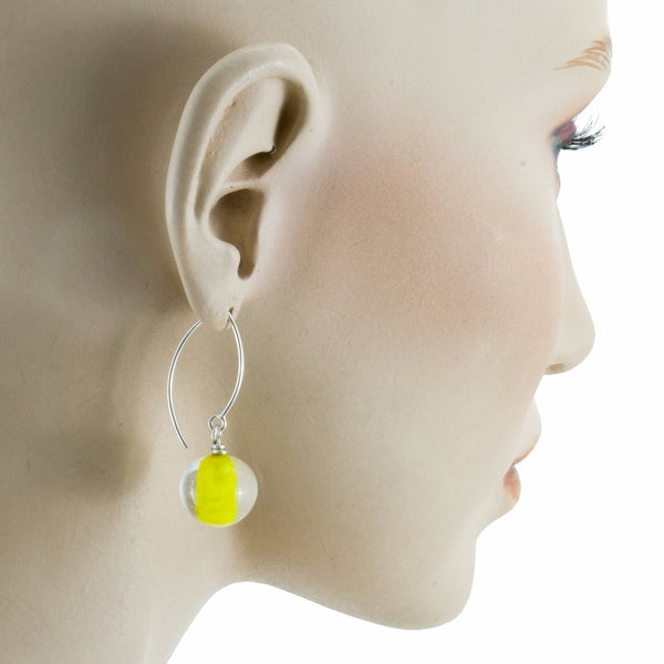Biglia Long Yellow Earrings by Cosima Montavoci - Co Glass Jewellery