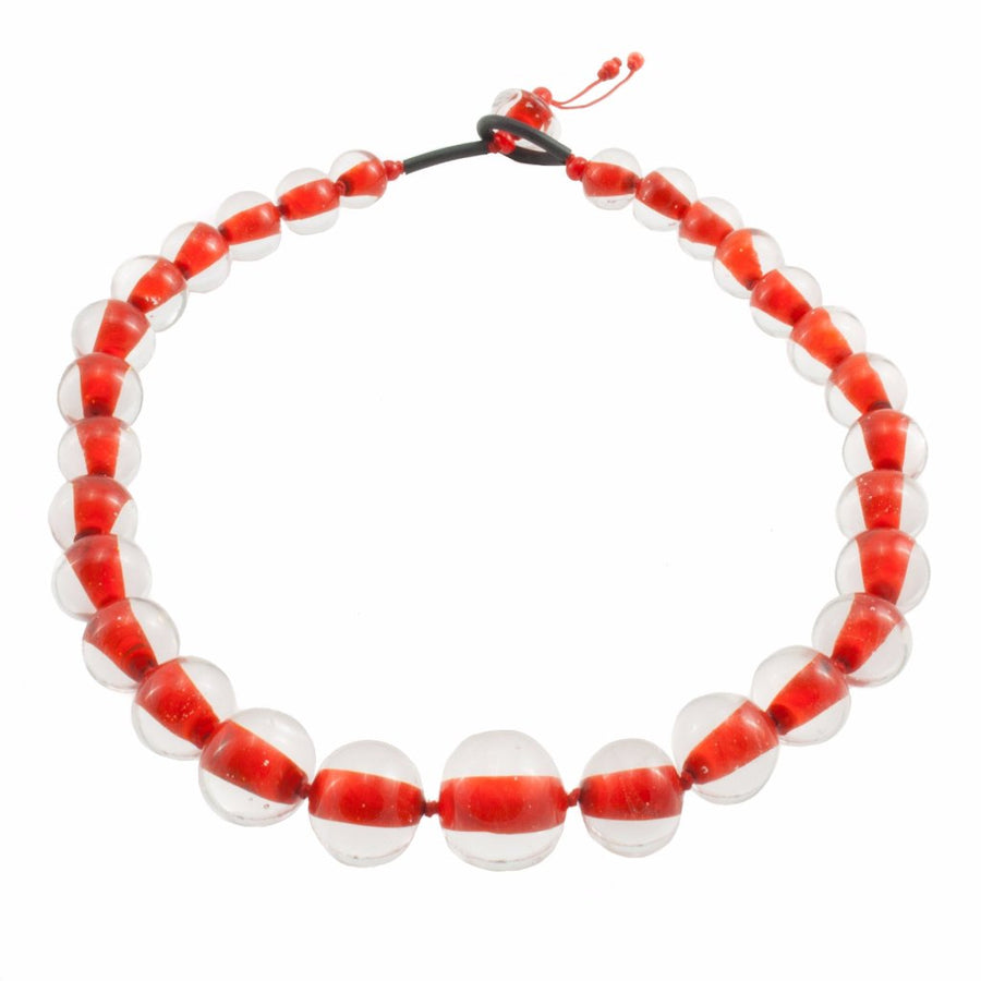 Biglia Red Necklace Necklace by Cosima Montavoci - Co Glass Jewellery