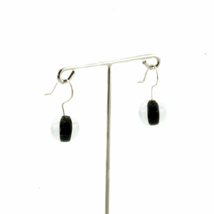 Biglia Black Short Earrings Earrings by Cosima Montavoci - Co Glass Jewellery