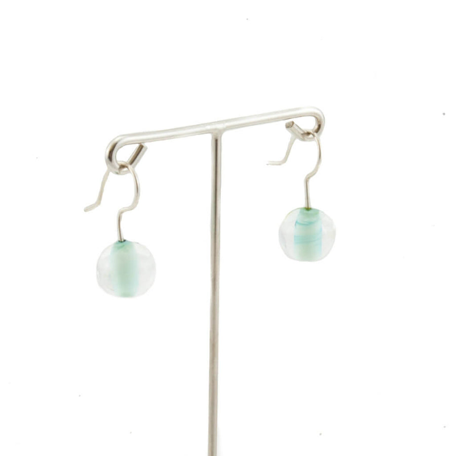 Biglia Copper Green Short Earrings Earrings by Cosima Montavoci - Co Glass Jewellery