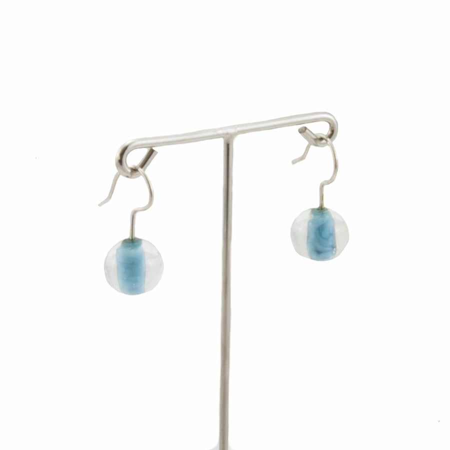 Biglia Metal Navy Short Earrings Earrings by Cosima Montavoci - Co Glass Jewellery