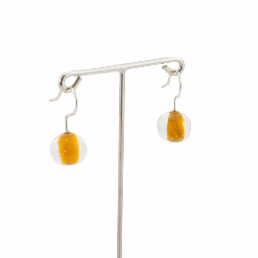 Biglia Orange Short Earrings Earrings by Cosima Montavoci - Co Glass Jewellery