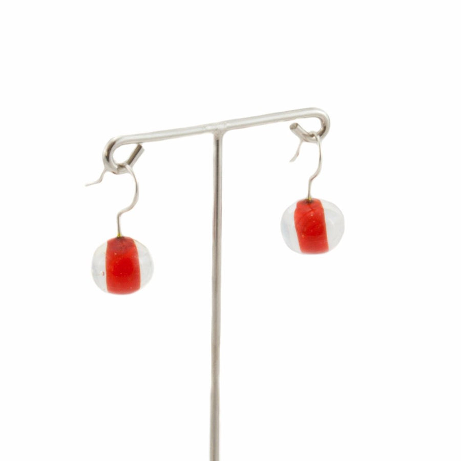 Biglia Red Short Earrings Earrings by Cosima Montavoci - Co Glass Jewellery