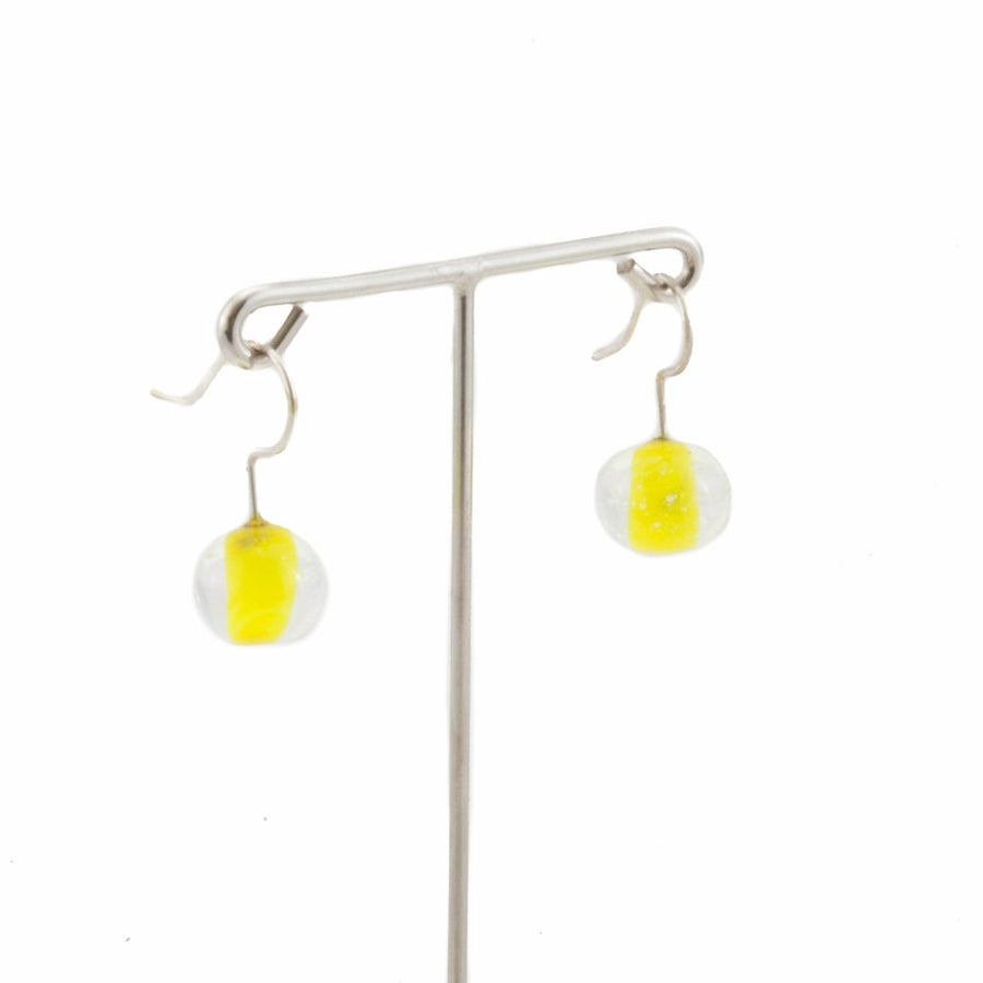 Biglia Yellow Short Earrings Earrings by Cosima Montavoci - Co Glass Jewellery