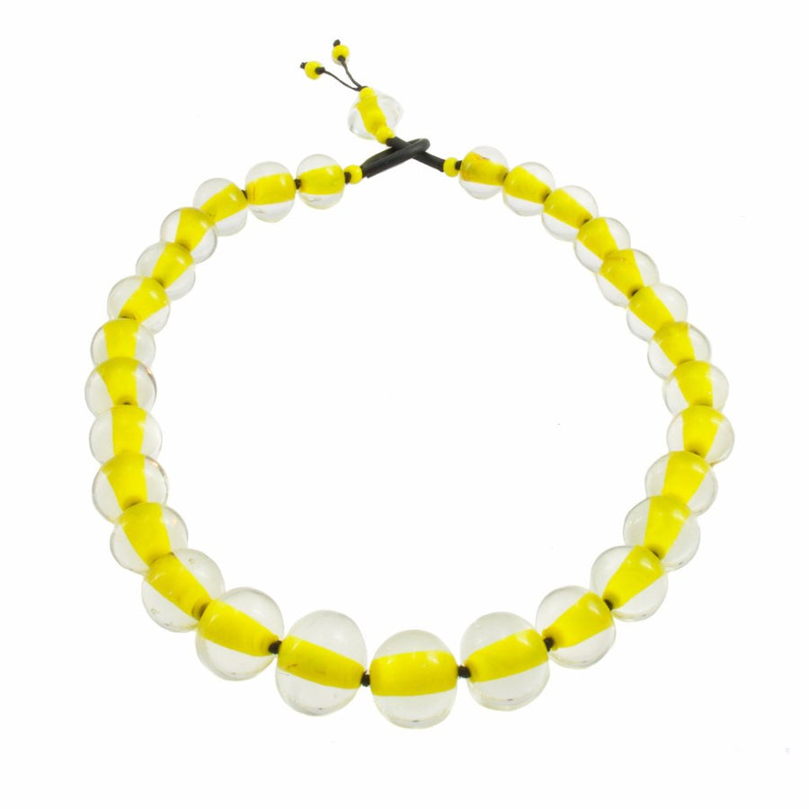 Biglia Yellow Necklace Necklace by Cosima Montavoci - Co Glass Jewellery