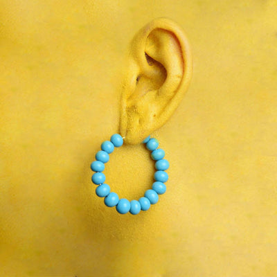Centouno Azure Round Earrings Earrings by Cosima Montavoci - Sunset Yogurt