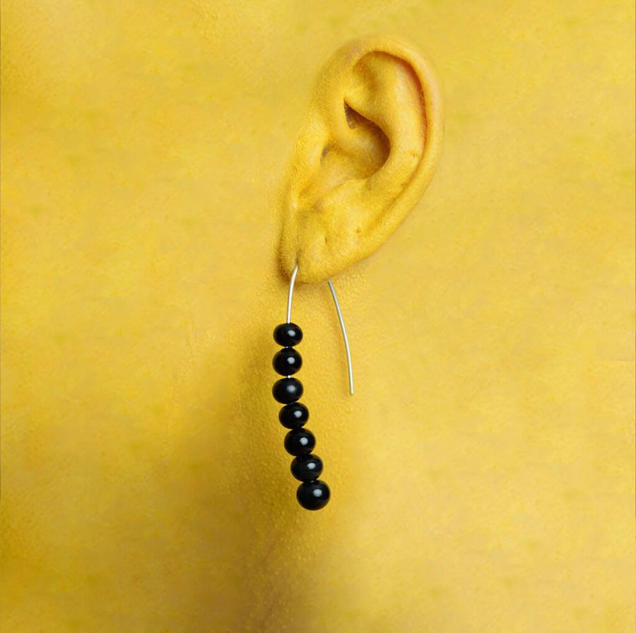 Centouno Black Dangle Earrings