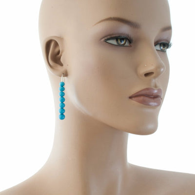 Centouno Azure Dangle Earrings Earrings by Cosima Montavoci - Co Glass Jewellery