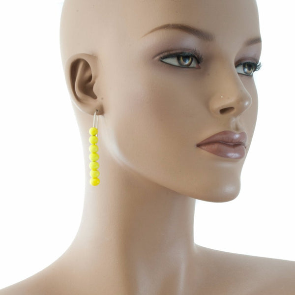 Centouno Yellow Dangle Earrings Earrings by Cosima Montavoci - Co Glass Jewellery