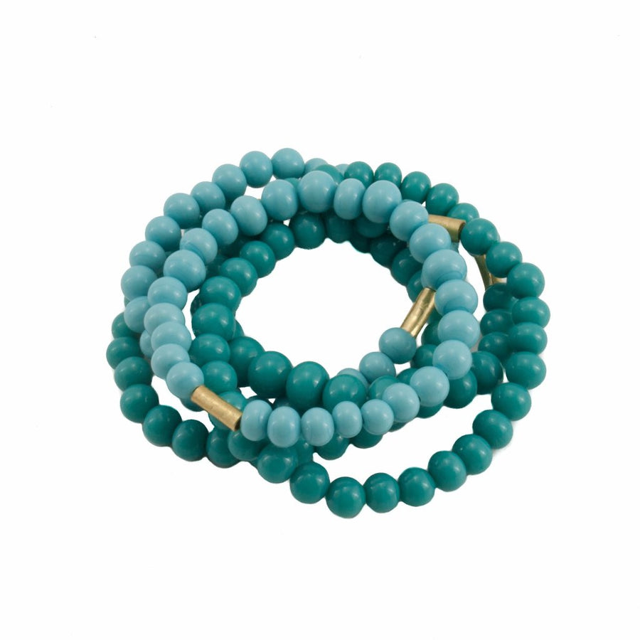 Centouno Dark & Light Blue Bracelets by Cosima Montavoci - Co Glass Jewellery