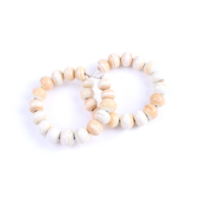 Centouno Ivory Round Earrings