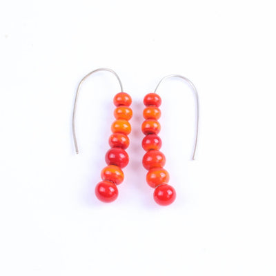 Centouno Red Dangle Earrings