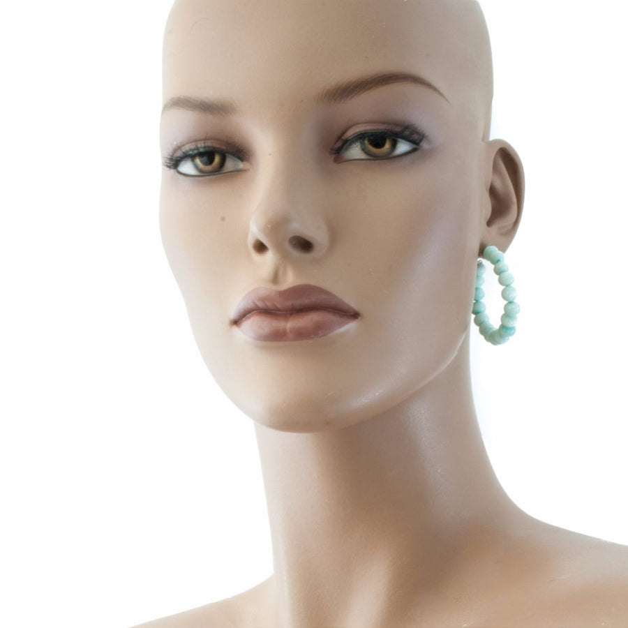Centouno Marble Green Round Earrings