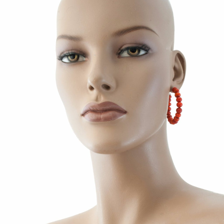 Centouno Red Round Earrings