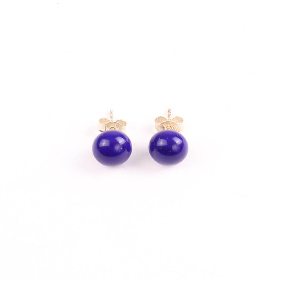 Centouno Cobalt Blue Stud Earrings