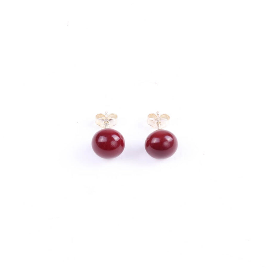 Centouno Bordeaux Stud Earrings