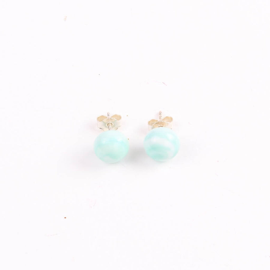 Centouno Marble Green Stud Earrings