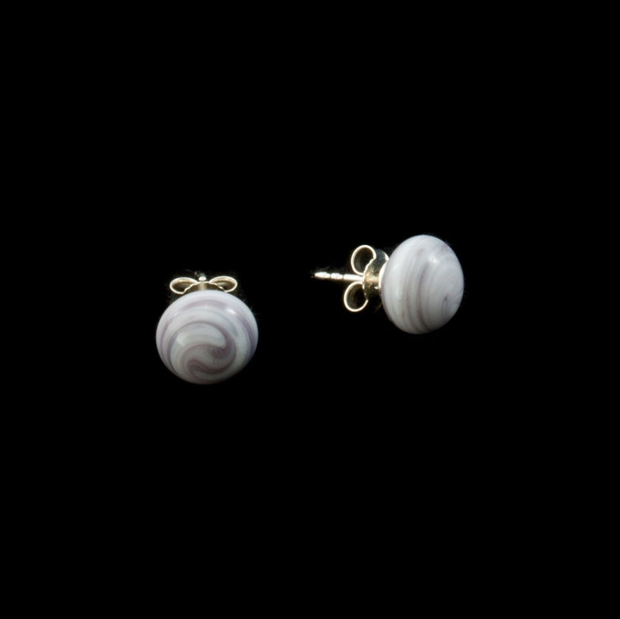 Centouno Marble Lilac Stud Earrings