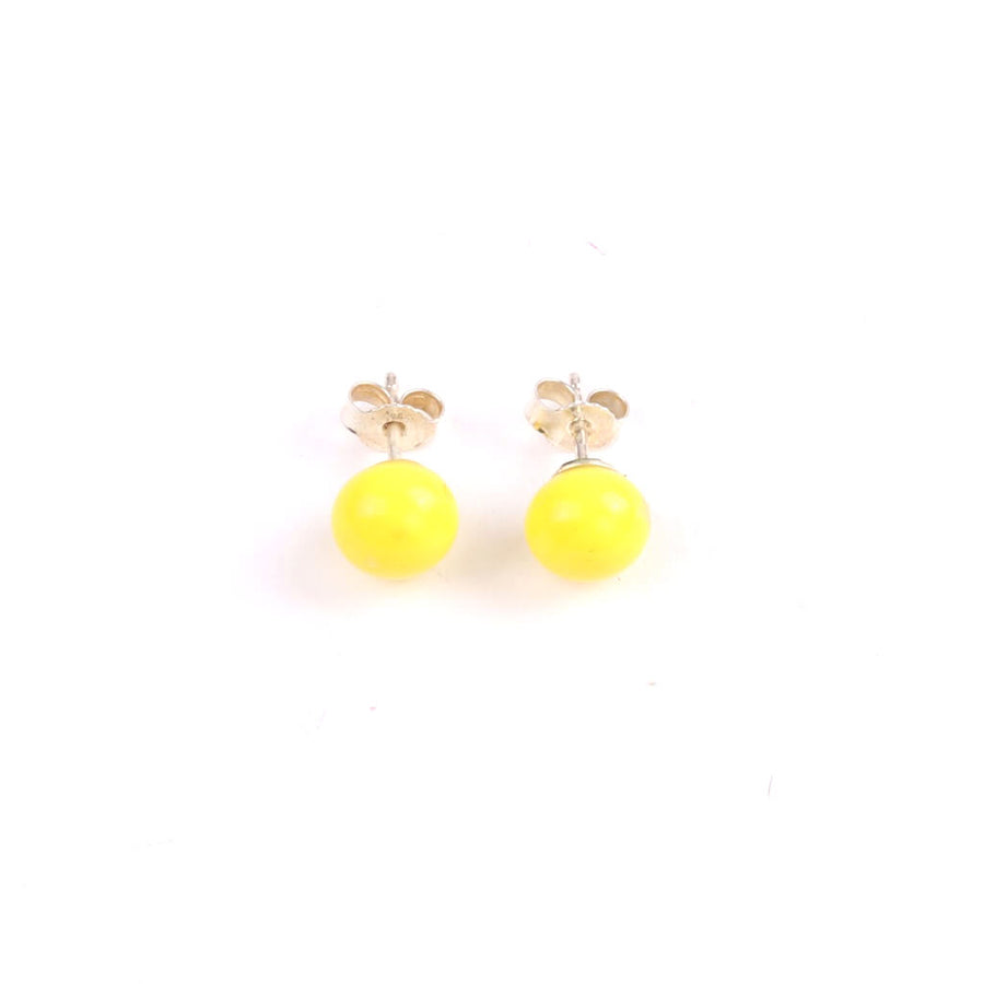 Centouno Yellow Stud Earrings